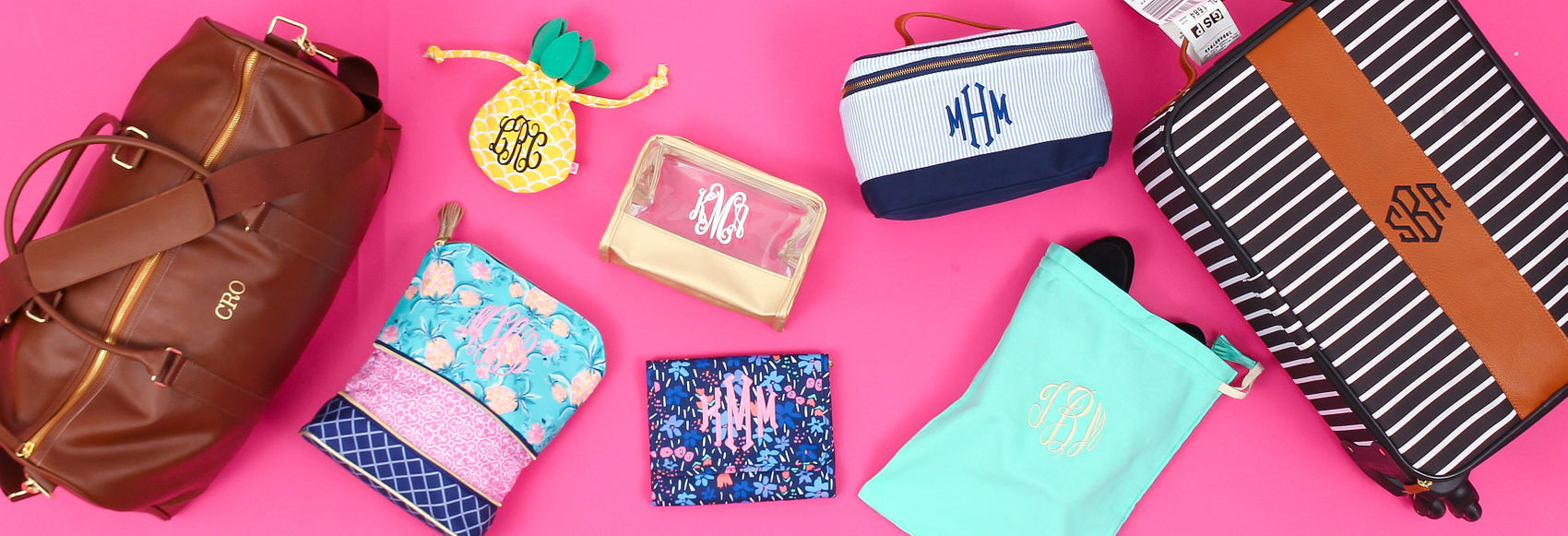 monogrammed travel bags, luggage bags, cute luggage
