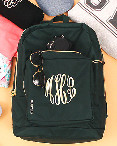 Monogrammed Everyday Backpack