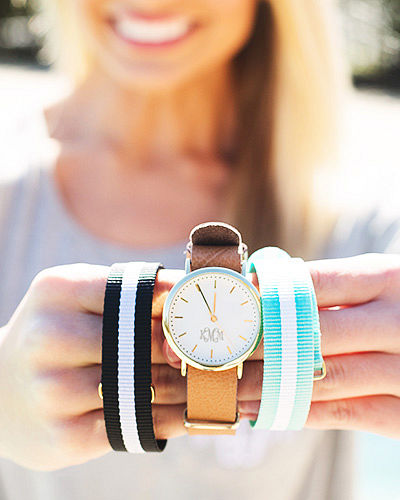 Monogrammed Watch Set