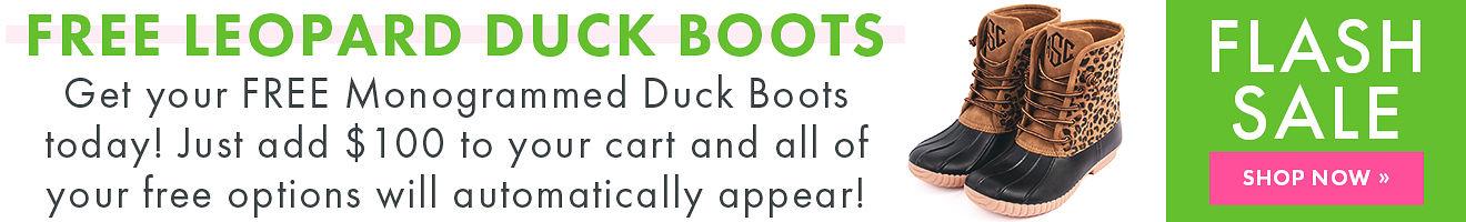 Free duckboots flash sale