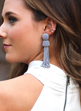Wait For Love Silver Tassel Earrings