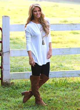 A Breath Away Tunic in Ivory