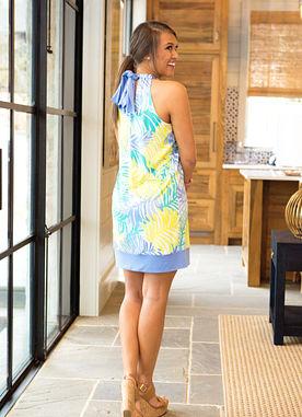 Walking In The Wind Dress in Palm