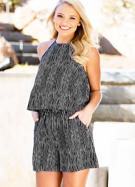 Palmer Romper in Black