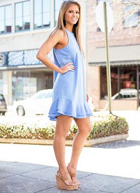 Lindsey Dress in Blue