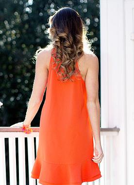 Lindsey Dress in Orange