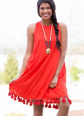 Cruz Dress in Red