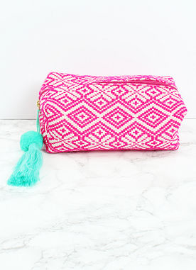 Sealed With A Kiss Cosmetic Case in Pink