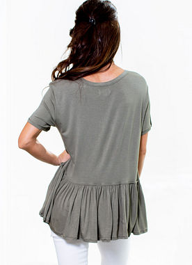 Mason Top in Olive