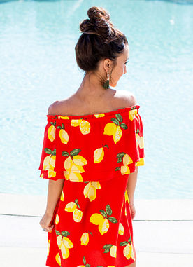 Pippa Dress in Red