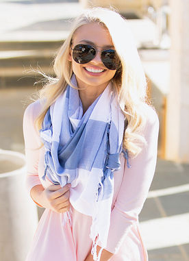 That's A Wrap Scarf in Blue