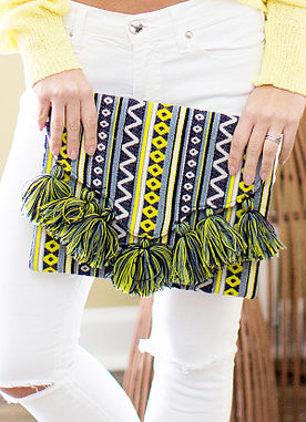 Sunset Chic Clutch in Green