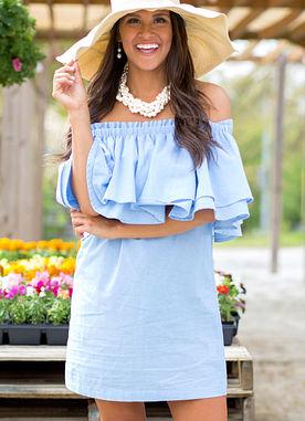 Pippa Dress in Blue