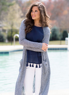 The Blythe Cardigan in Navy
