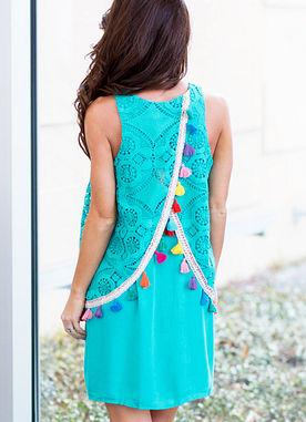 Until Sunset Dress in Jade