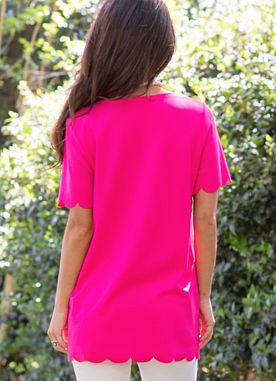 Believe Me Top in Hot Pink