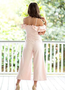 Miss Primetime Jumpsuit in Blush