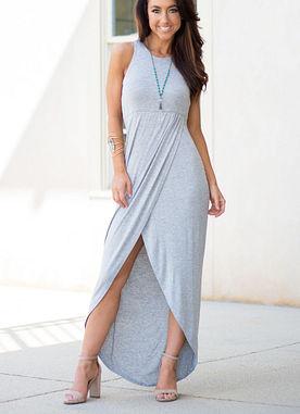 Night Mode Maxi Dress in Grey