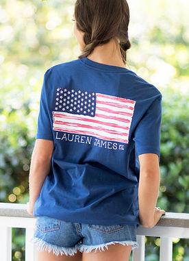 Magnolia American Flag Tee