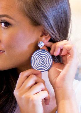 Simple Touch Earrings in Blue