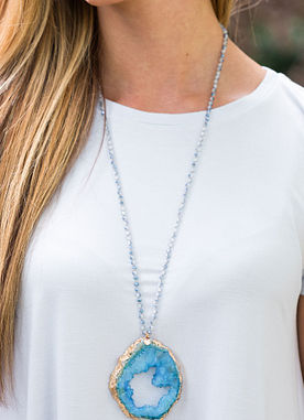 Rare Beauty Necklace in Blue