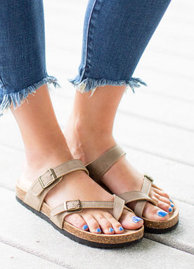 Be Real Sandals in Taupe