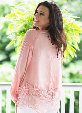 Just A Kiss Top in Blush