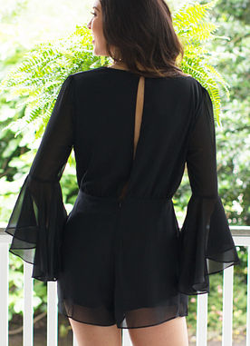Show Stopper Romper in Black