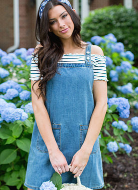 Life Is Good Denim Overall Dress