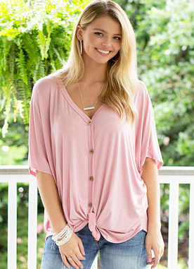 All About It Top in Mauve