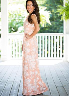 Dipped In Dreams Maxi Dress in Blush