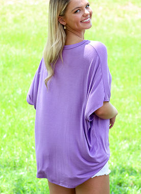 All About it Top in Lavender