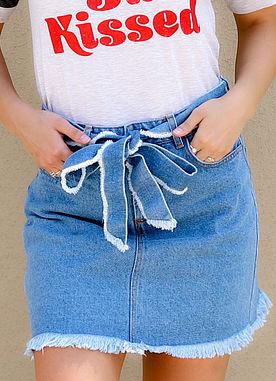 Backroad Bliss Denim Skirt