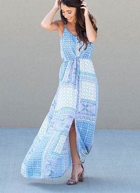 Away For The Summer Maxi Dress