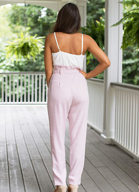 Save My Soul Jumpsuit in Dusty Pink