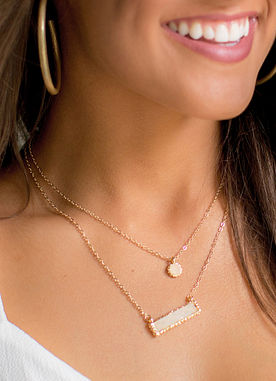 Raise The Bar Necklace in Ivory