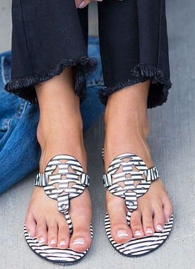 All That's Perfect Sandals in Stripe