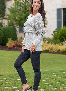 Beckham Fringe Sweater