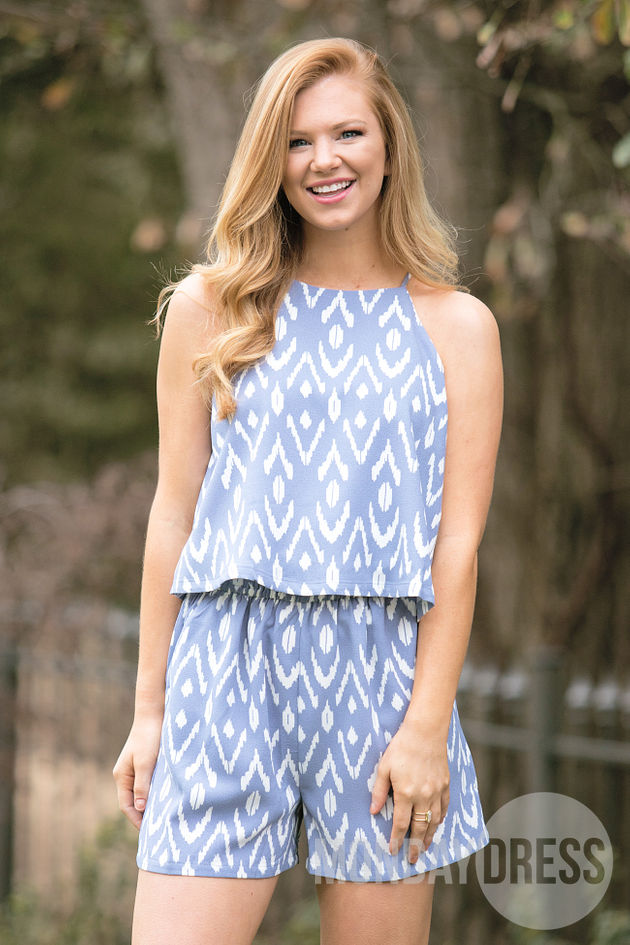 Palmer Romper in Blue