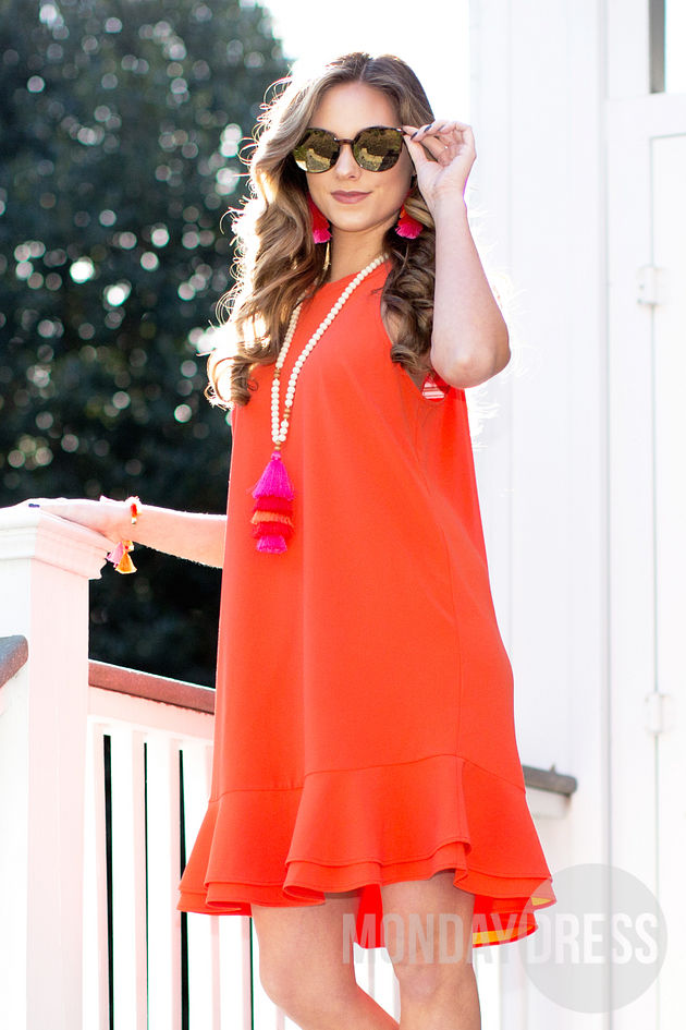 Lindsey Dress in Orange