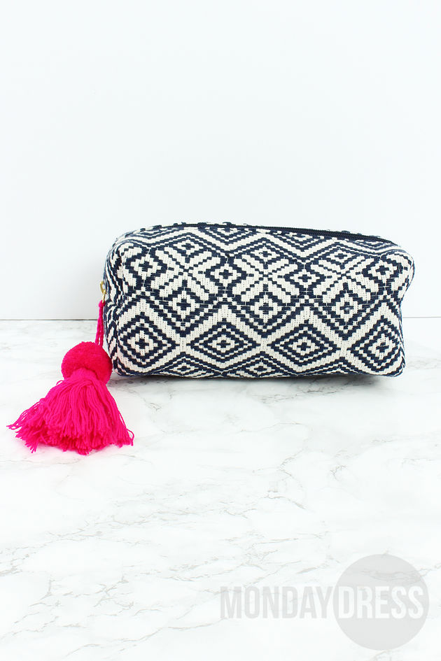 Sealed With A Kiss Cosmetic Case in Navy