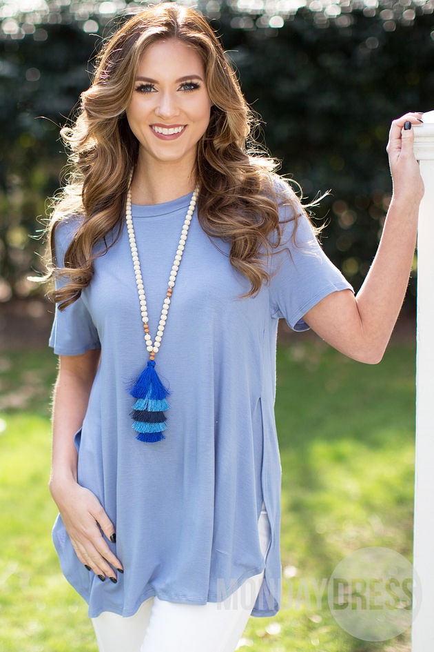 Aim High Tunic in Blue