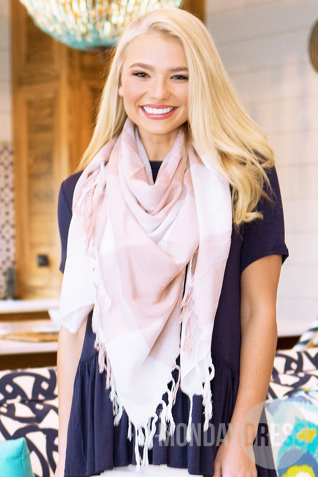That's A Wrap Scarf in Blush