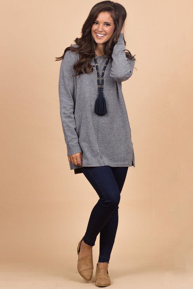 The Camilla Sweater in Gray