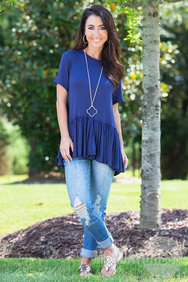 Mason Top in Navy