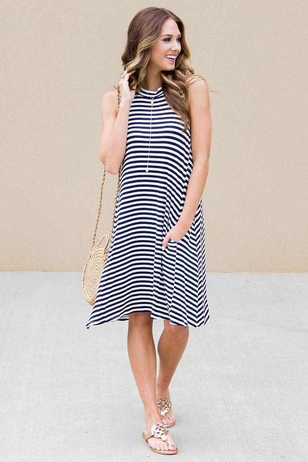 Alyssa Dress in Navy