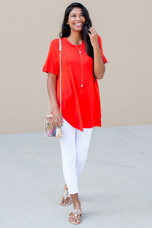 Aim High Tunic in Poppy Red