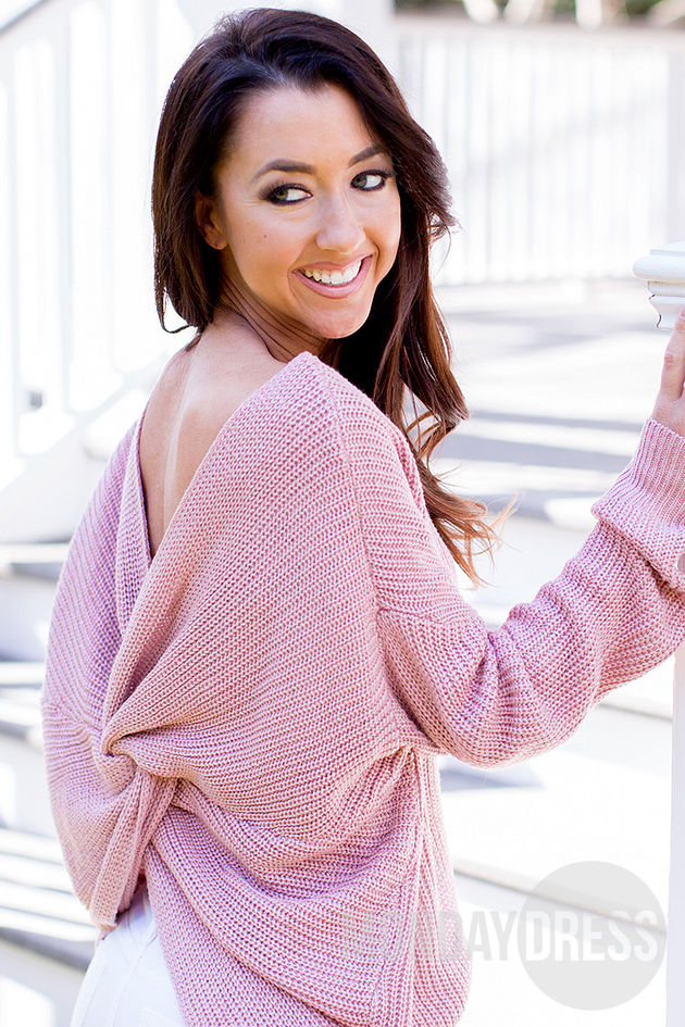 Breathless Sweater in Mauve