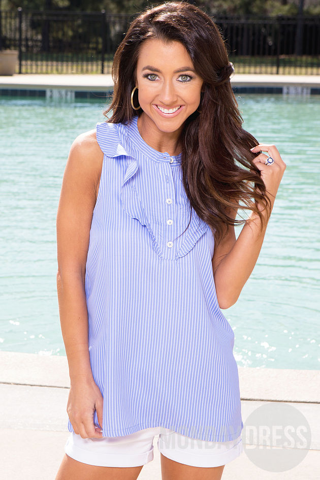 The Carrie Top in Blue