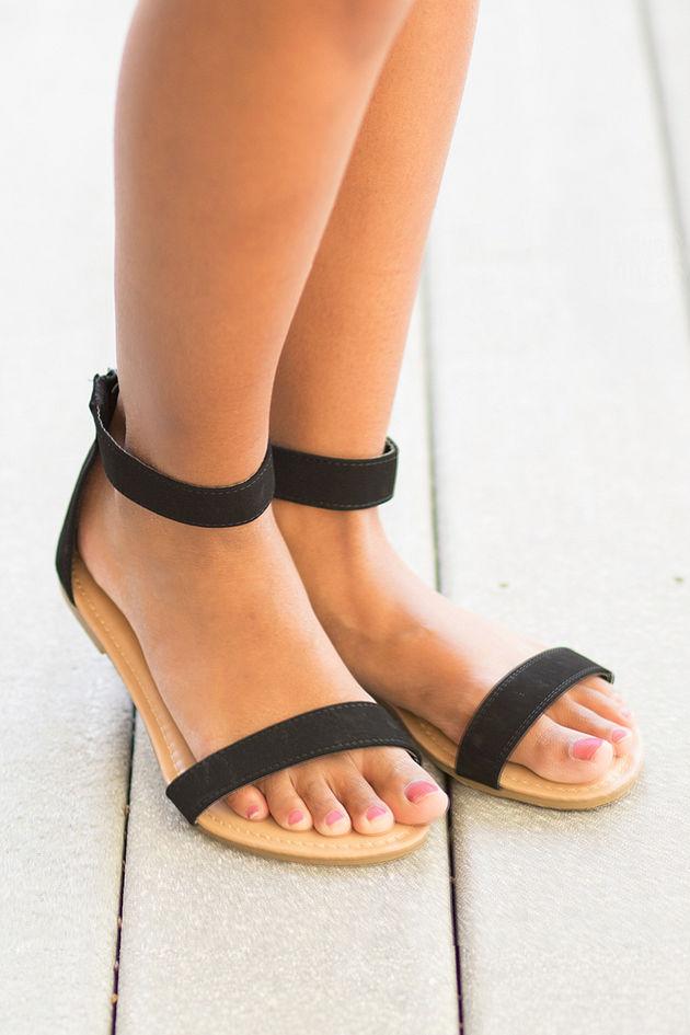 The Jessica Sandals in Black